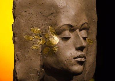 Mi ricordo ancora béton et feuilles d'or, 49 x 30 x 20 cm, 2015