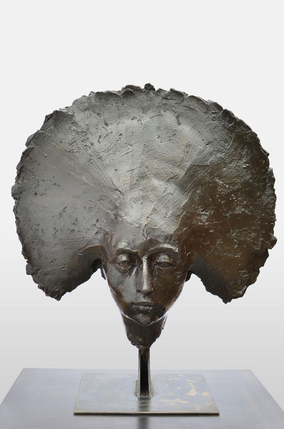 """"""" Dark Moon """" 69 cm, béton, 2013 - Pièce unique"""