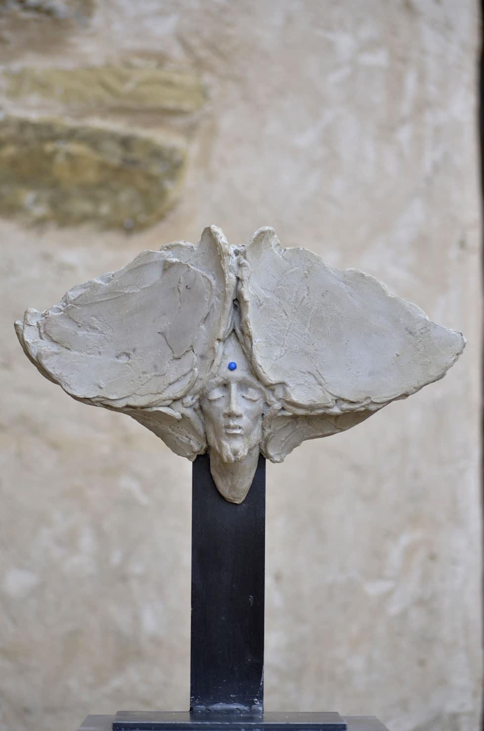 """"""" Goutte de ciel """" béton polychrome, 33 cm, 2015 - Pièce numérotée 8/8"""