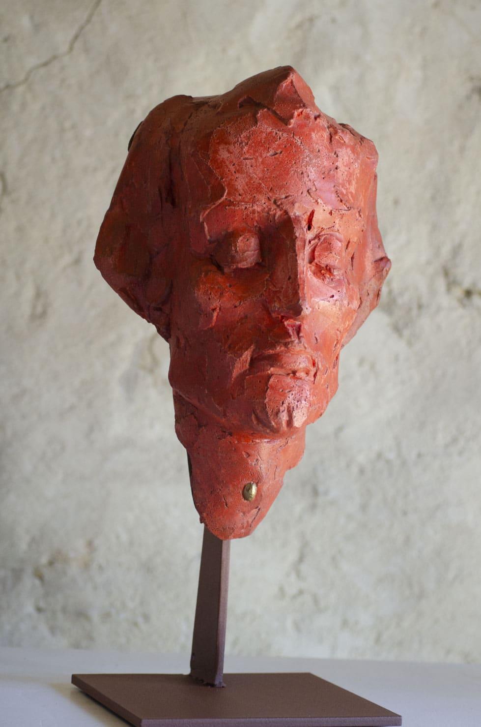 """"""" Graine Primaire ( Rouge )"""" béton, 40 cm, pièce unique, 2016 - Pièce unique"""