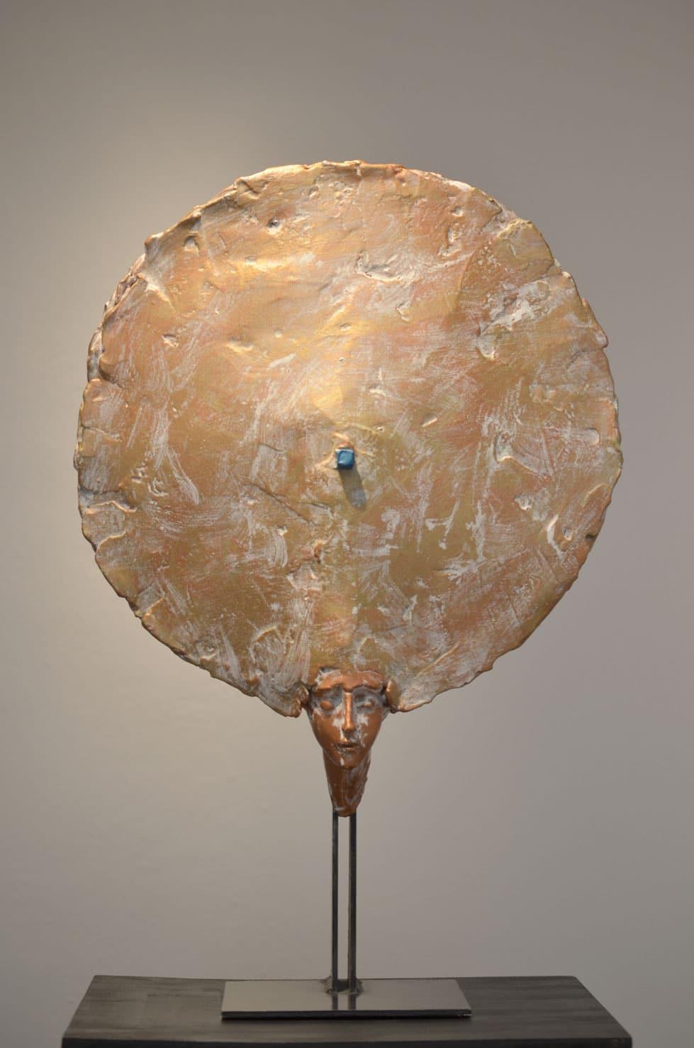 """"""" Sun is shining """" béton, 49 cm, 2014 - Pièce unique"""