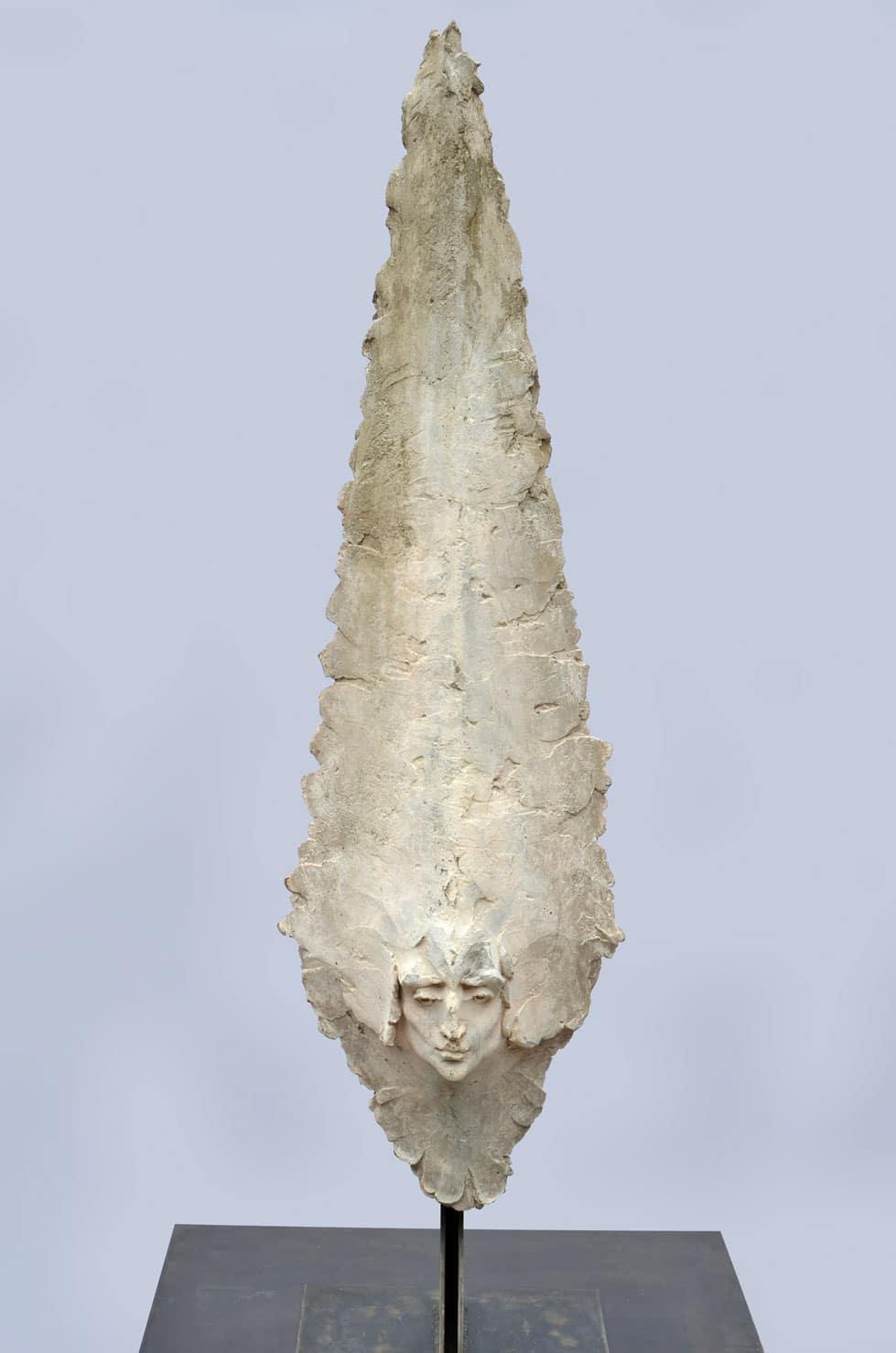 """"""" Gardien """", béton, 124 cm, 2013 - Pièce unique"""