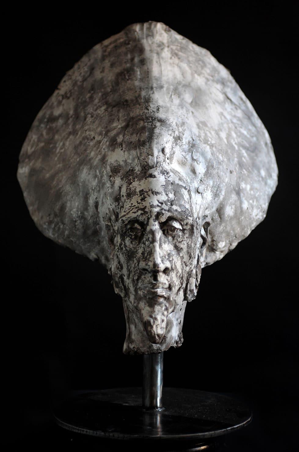 """"""" Sintesi Grigia """" béton, 68 cm, 2009 - Pièce unique"""