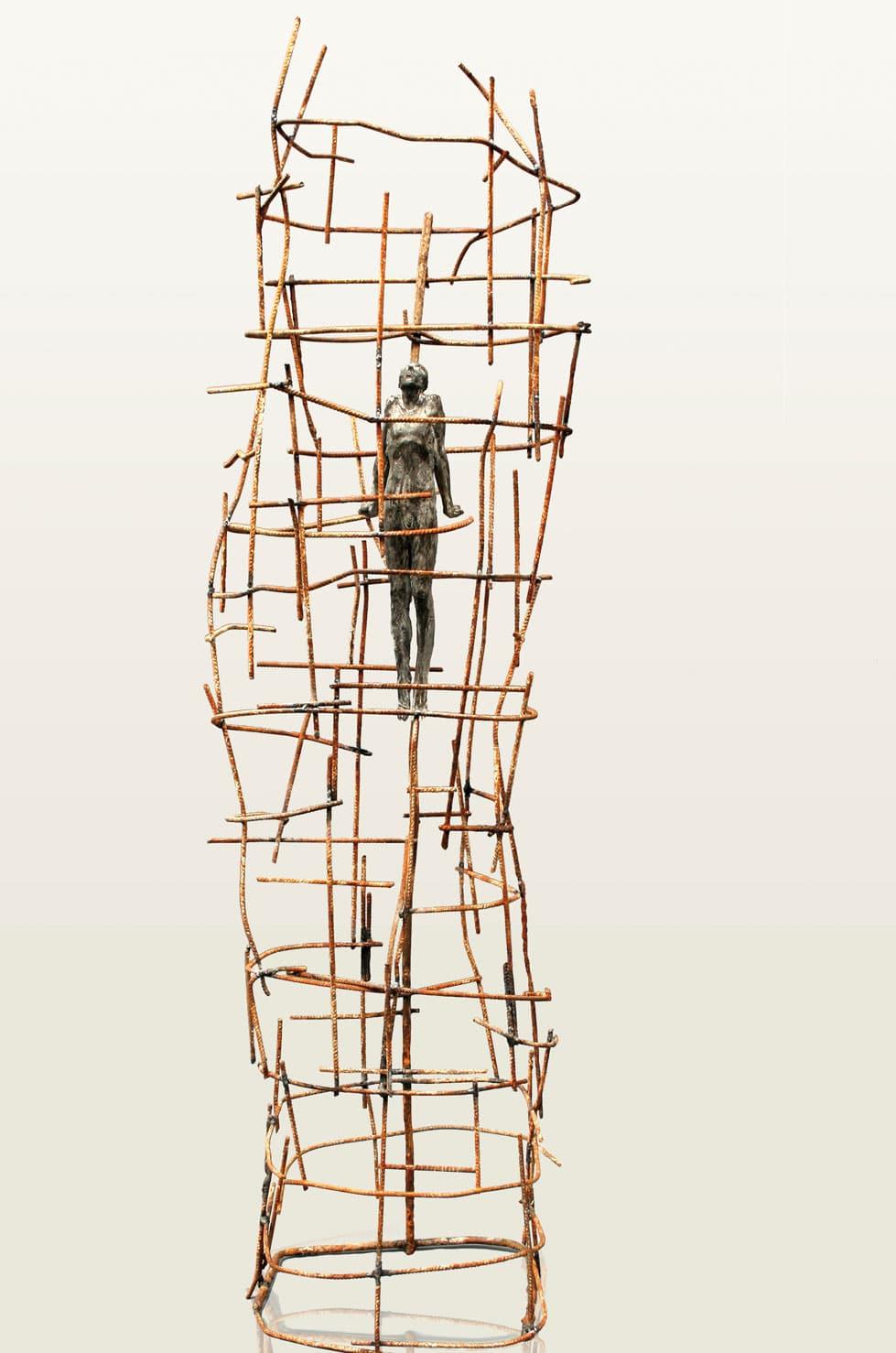 APNEA, 127 cm, métal et béton, 2007 - Premio ARTE SCULTURA ACCADEMIA