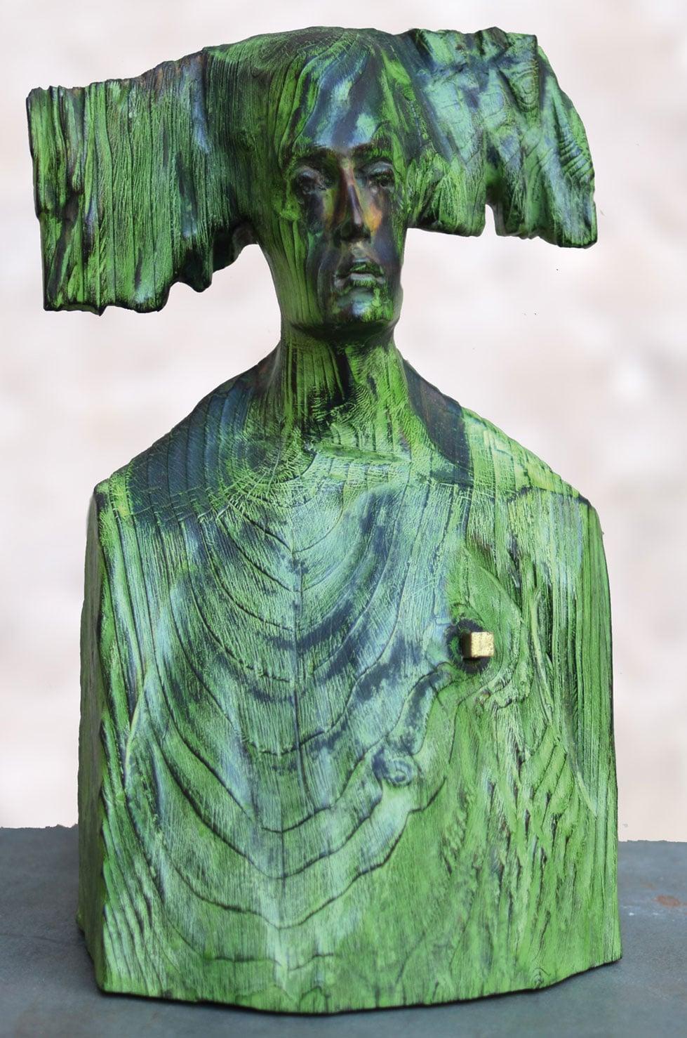 """"""" Nature is calling me """", 38 cm, cèdre, 2014 - Pièce unique"""