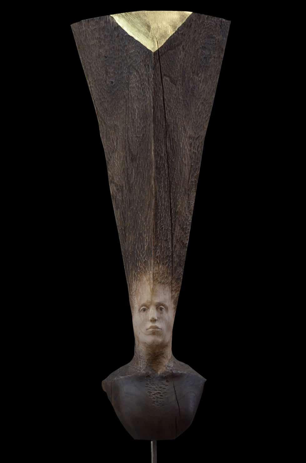 """"""" Eclat Doré marronnier """", 30 x 30 x130 cm, 2017 - Pièce unique"""
