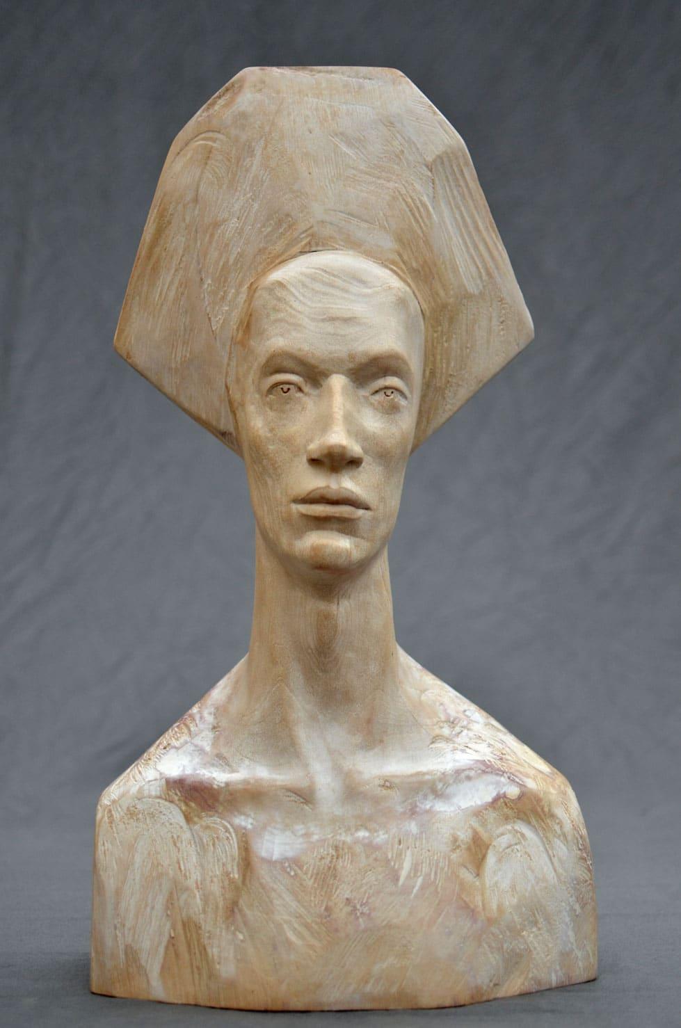 """"""" Feeling White """" tilleul, 63 cm, 2013 - Pièce unique"""
