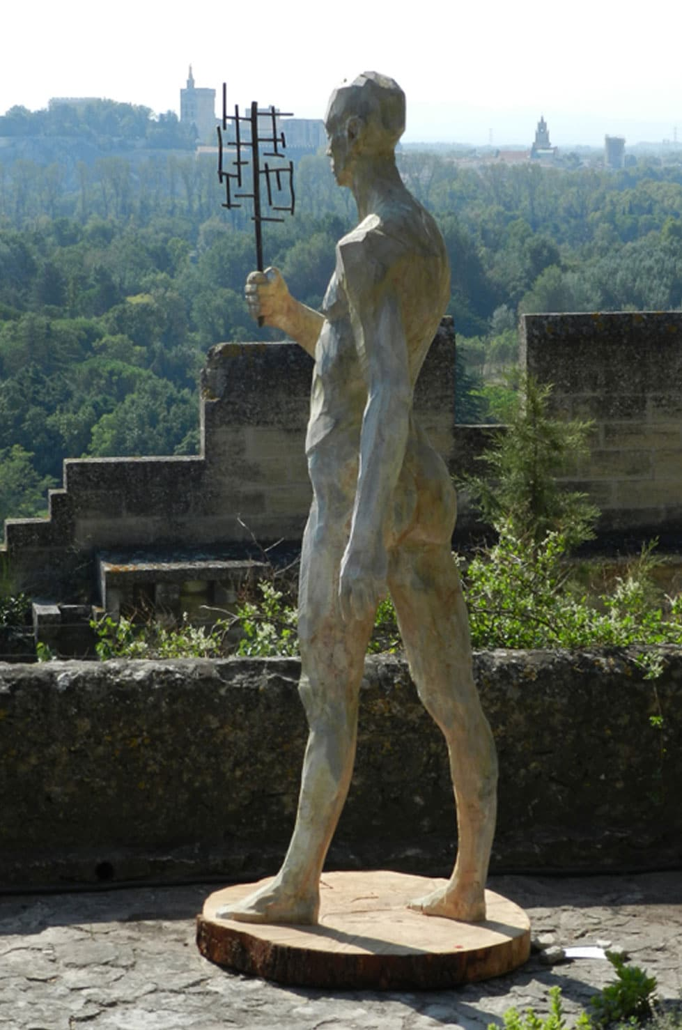""" Point of View "" cèdre, 225 cm, 2010 - Pièce unique"
