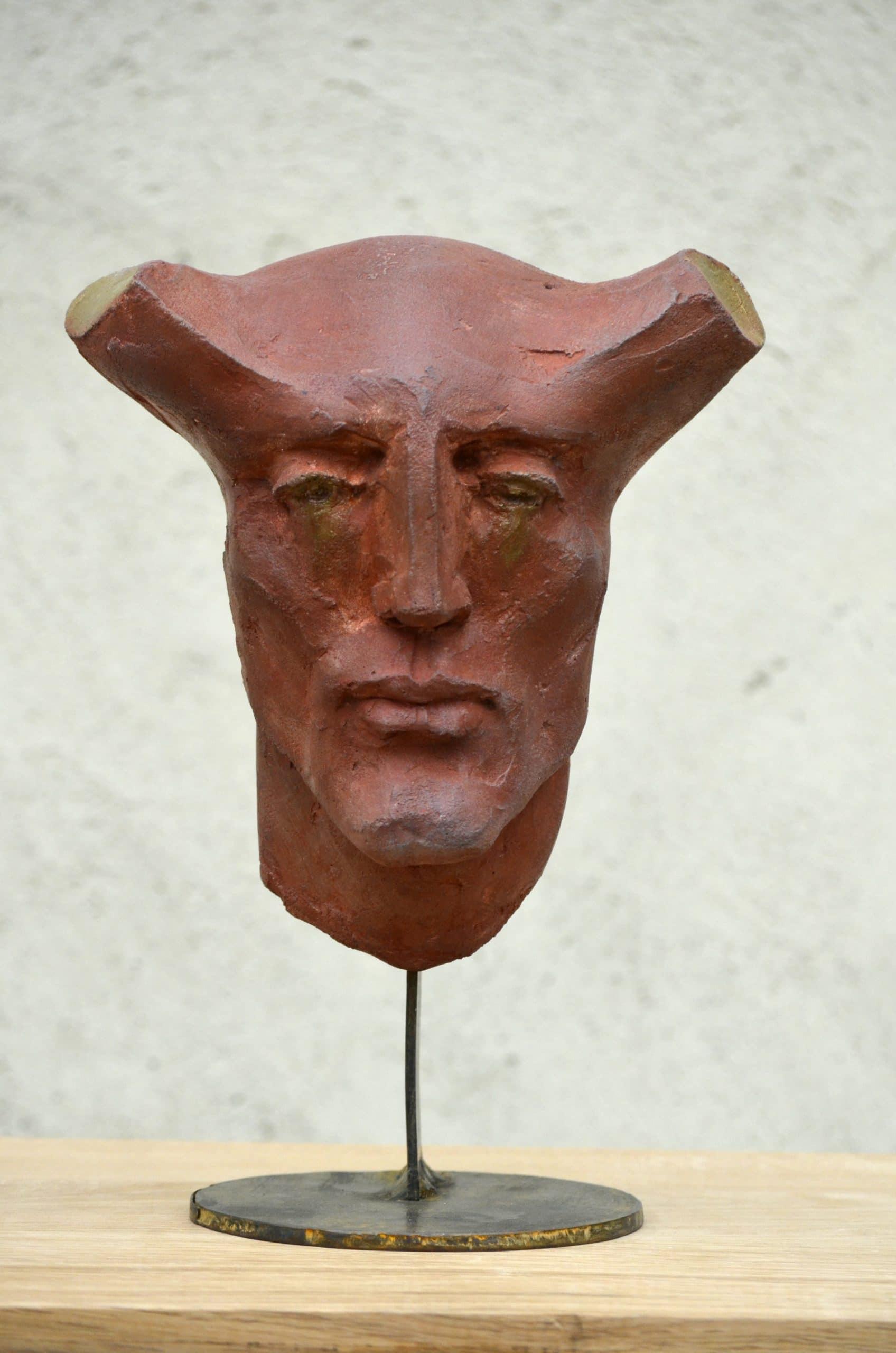 """"""" Head 2 """" béton, 50 x 31 x 27 cm, 2018 - Pièce unique"""